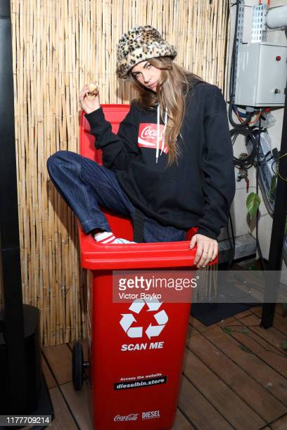 Clara Berry attends the DIESELXCOCACOLA Event on September 28 2019 in Paris France