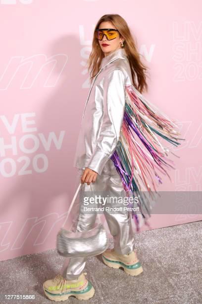 Clara Berry attends the Etam Live Show - Womenswear Spring/Summer 2021 show as part of Paris Fashion Week on September 29, 2020 in Paris, France.