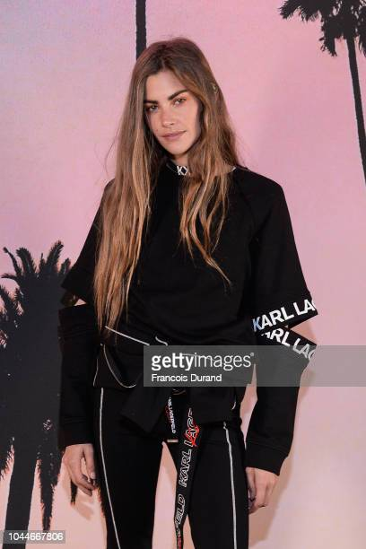 Clara Berry attends the launch of the Karl x Kaia collaboration capsule collection on October 2 2018 in Paris France