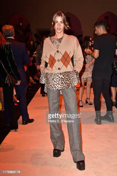 Clara Berry attends the Luisa Spagnoli fashion show during the Milan Fashion Week Spring/Summer 2020 on September 20 2019 in Milan Italy