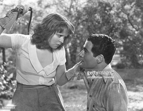 Clara Bow as Nasa Springer and Gilbert Roland as Moonglow in the 1932 film Call Her Savage