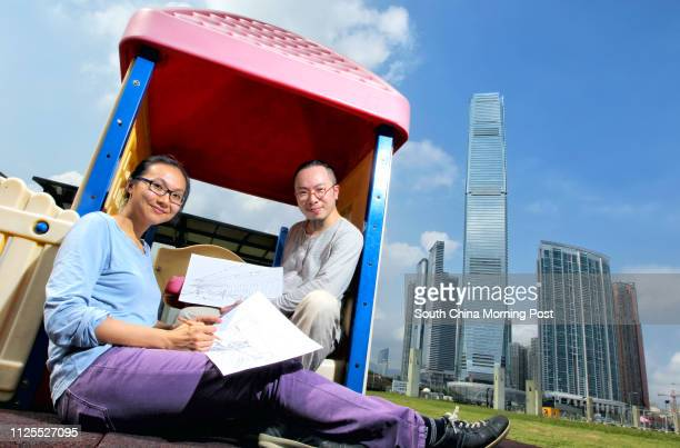 Clara Cheung Kalei and Gum Cheng Yeeman go to sketch in West Kowloon Cultural District on International Sick Leave Day 13MAY13
