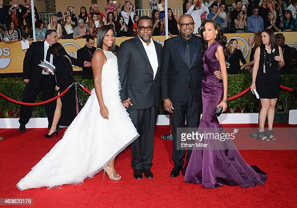 Clara Daniels director Lee Daniels actor Forest Whitaker and Keisha Whitaker attend the 20th Annual Screen Actors Guild Awards at The Shrine...