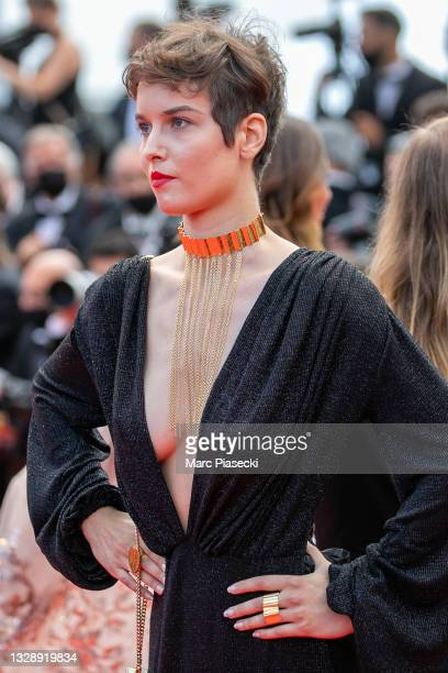"""Clara De Pin attends the """"France"""" screening during the 74th annual Cannes Film Festival on July 15, 2021 in Cannes, France."""