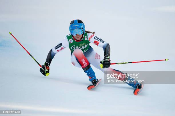 Clara Direz of France competes during the Audi FIS Alpine Ski World Cup Women's Giant Slalom on December 28, 2019 in Lienz Austria.