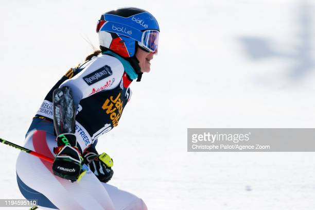 Clara Direz of France takes 1st place during the Audi FIS Alpine Ski World Cup Women's Parallel Slalom on January 19, 2020 in Sestriere Italy.