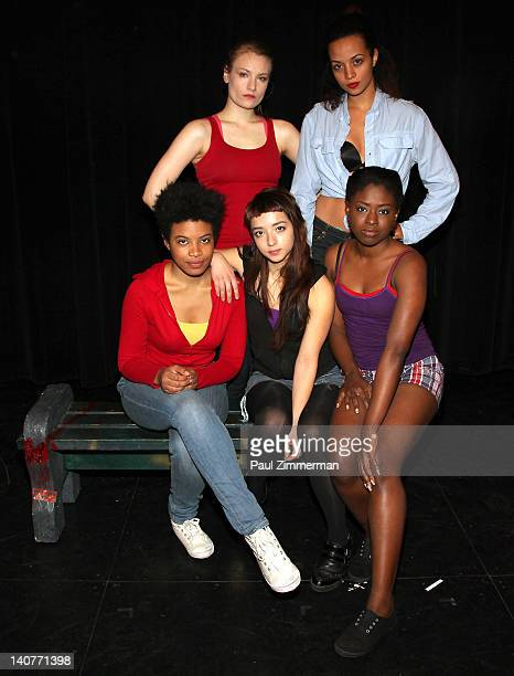 Clara Gabrielle Crystal Boyd Front row Daphne Gabriel Angelina Prendergast and Jameelah Nuriddin attend the 'Innocent Flesh' cast photo call at the...