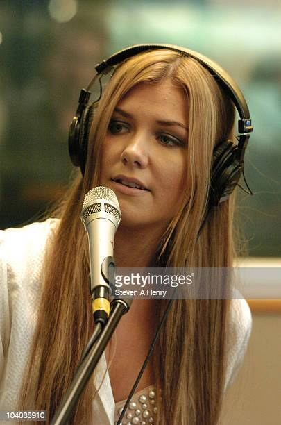 Clara Hagman of Ace of Base visits the SIRIUS XM Studio on September 14 2010 in New York City