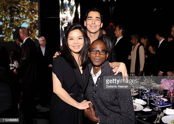 Clara Kim Allan DiCastro and Mark Bradford attends 2011 REDCAT Gala Honoring Eli Edythe Broad and Apichatpong Weerasethakul at REDCAT on March 19...