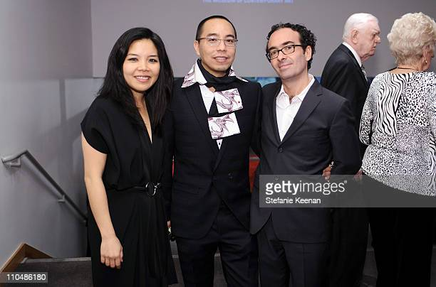 Clara Kim Apichatpong Weerasethakul and Jose Kuri attend 2011 REDCAT Gala Honoring Eli Edythe Broad and Apichatpong Weerasethakul at REDCAT on March...