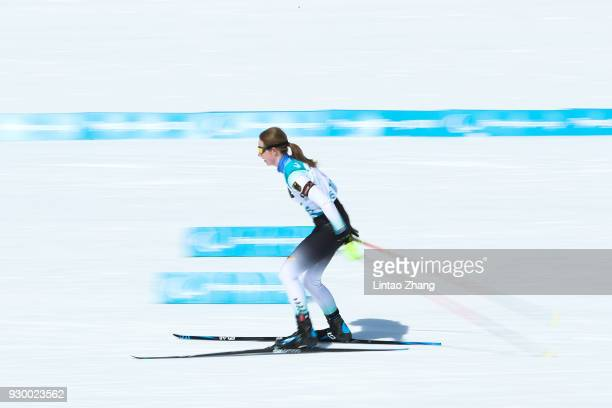 Clara Klug of Germany competes in the Women's 75km Visually Impaired Biathlon event at Alpensia Biathlon Centre during day one of the PyeongChang...