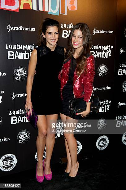 Clara Lago and Ursula Corbero attend 'Quien Mato a Bambi' premiere at La Cocina Rock Bar on November 12 2013 in Madrid Spain
