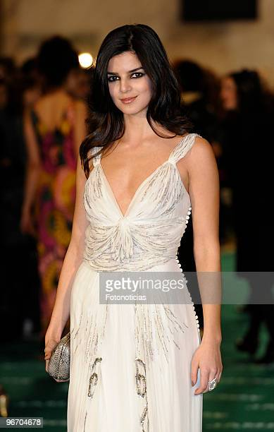 Clara Lago arrives to the 2010 edition of the 'Goya Cinema Awards' ceremony at the Palacio de Congresos on February 14 2010 in Madrid Spain
