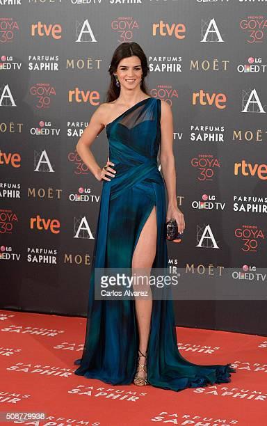 Clara Lago attends Goya Cinema Awards 2016 at Madrid Marriott Auditorium on February 6 2016 in Madrid Spain