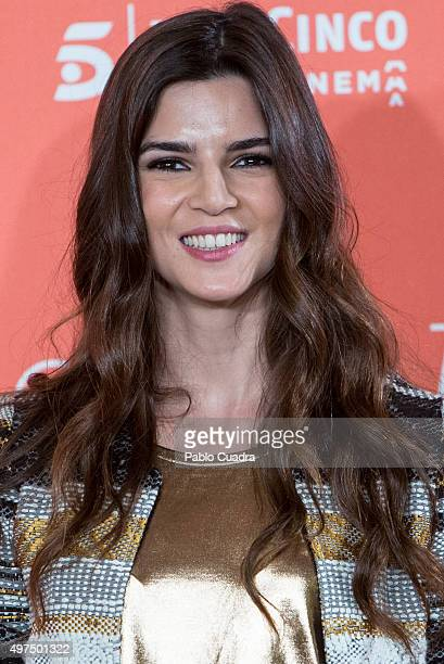 Clara Lago attends 'Ocho Apellidos Catalanes' photocall at Hesperia hotel on November 17 2015 in Madrid Spain