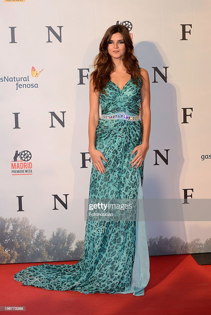 Clara Lago attends the premiere of 'Fin' at Callao Cinema on November 20, 2012 in Madrid, Spain.