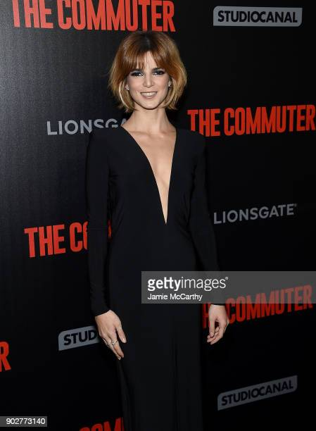 Clara Lago attends the 'The Commuter' New York Premiere at AMC Loews Lincoln Square on January 8 2018 in New York City