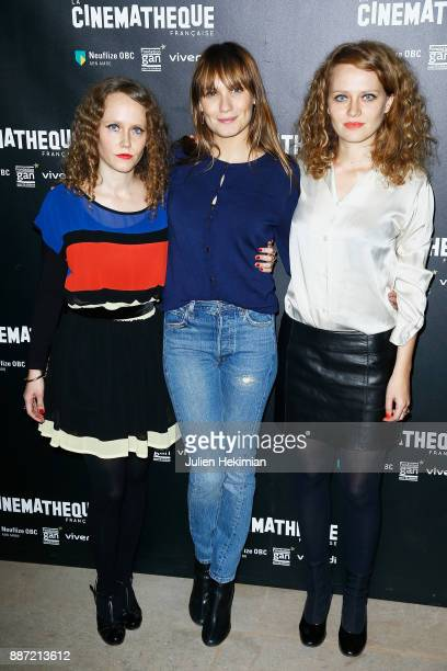 Clara Laperrousaz Ana Girardot and Laura Laperrousaz attend 'Soleil Battant' Paris Premiere at Cinematheque Francaise on December 6 2017 in Paris...