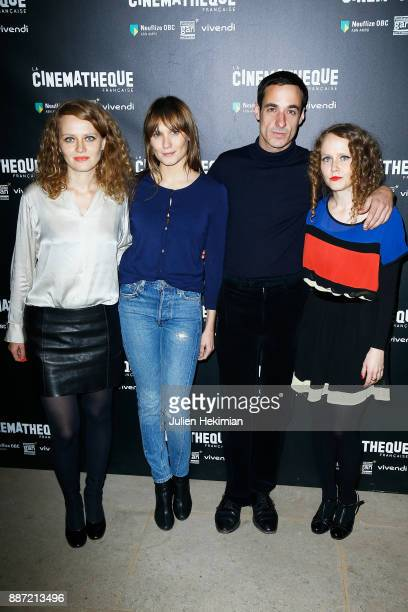 Clara Laperrousaz Ana Girardot Clement Roussier and Laura Laperrousaz attend 'Soleil Battant' Paris Premiere at Cinematheque Francaise on December 6...