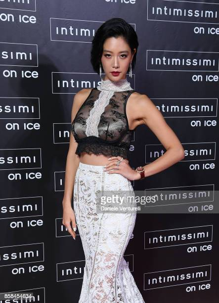 Clara Lee attends Intimissimi On ice 2017 on October 6 2017 in Verona Italy