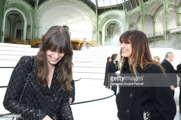 Clara Luciani and Caroline de Maigret attend the Chanel show as part of the Paris Fashion Week Womenswear Fall/Winter 2020/2021 on March 03 2020 in...