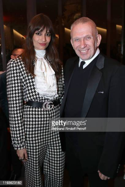Clara Luciani and JeanPaul Gaultier attend the Annual Charity Dinner hosted by the AEM Association Children of the World for Rwanda AIn on December...