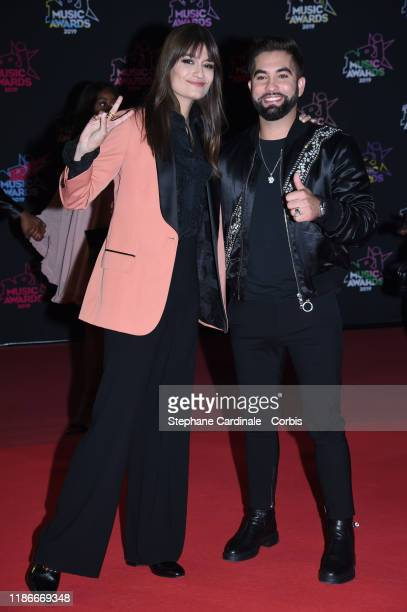 Clara Luciani and Kendji Girac attend the 21st NRJ Music Awards At Palais des Festivals on November 09 2019 in Cannes France