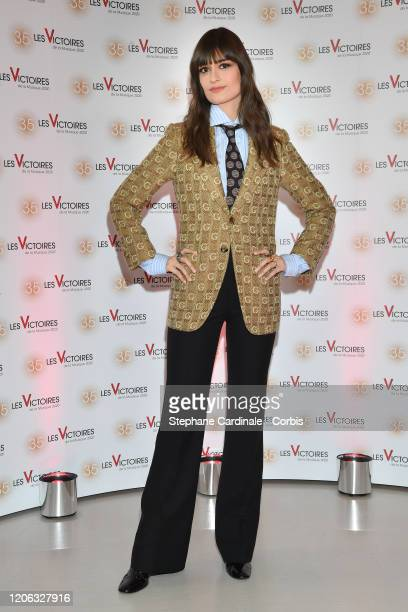 Clara Luciani attends the 35th 'Les Victoires De La Musique' photocall At La Seine Musicale on February 14 2020 in BoulogneBillancourt France