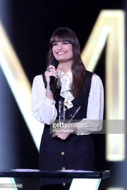 Clara Luciani attends the 35th 'Les Victoires De La Musique' Show At La Seine Musicale on February 14 2020 in BoulogneBillancourt France