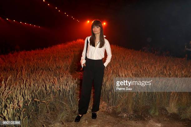 Clara Luciani attends the Ami Alexandre Mattiussi Menswear Spring/Summer 2019 show as part of Paris Fashion Week on June 21 2018 in Paris France
