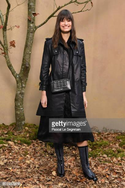 Clara Luciani attends the Chanel show as part of the Paris Fashion Week Womenswear Fall/Winter 2018/2019 at Le Grand Palais on March 6 2018 in Paris...