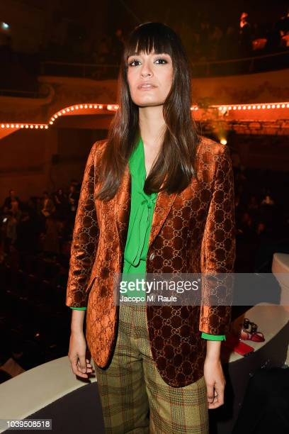 Clara Luciani attends the Gucci show during Paris Fashion Week Spring/Summer 2019 on September 24 2018 in Paris France
