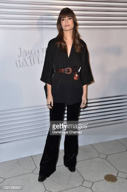Clara Luciani attends the JeanPaul Gaultier Haute Couture Spring/Summer 2020 show as part of Paris Fashion Week at Theatre Du Chatelet on January 22...