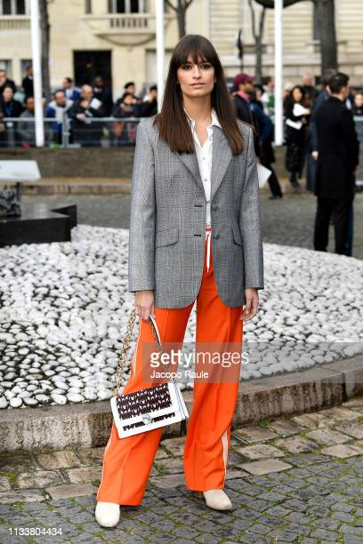 Clara Luciani attends the Miu Miu show as part of the Paris Fashion Week Womenswear Fall/Winter 2019/2020 on March 05 2019 in Paris France