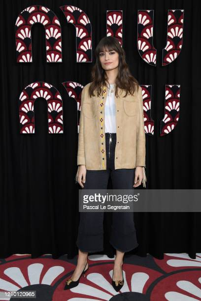 Clara Luciani attends the Miu Miu show as part of the Paris Fashion Week Womenswear Fall/Winter 2020/2021 on March 03 2020 in Paris France