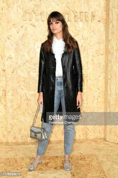 Clara Luciani attends the Miu Miu Womenswear Spring/Summer 2020 show as part of Paris Fashion Week on October 01 2019 in Paris France