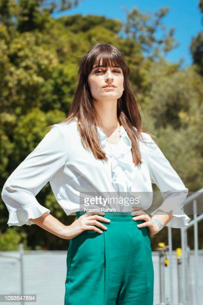 Clara Luciani backstage at So Frenchy So Chic on January 13 2019 in Melbourne Australia