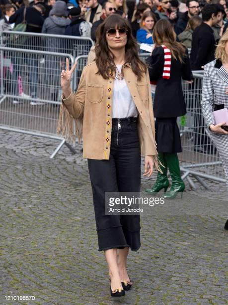 Clara Luciani is seen during Paris Fashion Week Womenswear Fall/Winter 2020/2021 on March 03, 2020 in Paris, France.