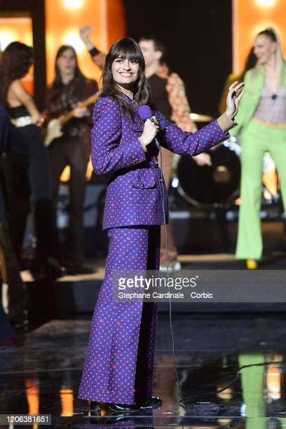 Clara Luciani performs during the 35th 'Les Victoires De La Musique' Show At La Seine Musicale on February 14 2020 in BoulogneBillancourt France