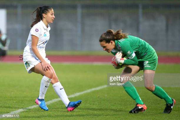 Clara Mateo during the Women's Division 1 match between Juvisy and Guingamp on May 6, 2017 in Evry, France.