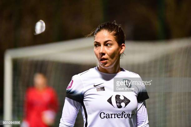 Clara Mateo of of Paris FC during the Women's Division 1 match between Paris Saint Germain and Paris FC on March 12 2018 in Saint germainenLaye France
