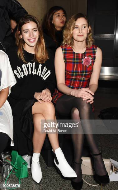 Clara Mathilde McGregor and Laura Carmichael attend the Christopher Kane show during London Fashion Week February 2018 at Tate Britian on February 19...