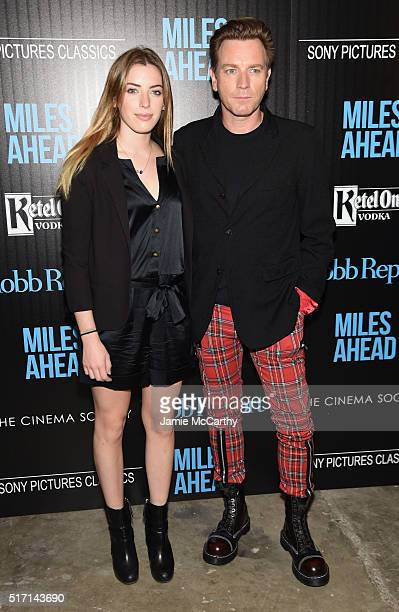 Clara McGregor and actor Ewan McGregor arrive at the screening of Sony Pictures Classics' 'Miles Ahead' hosted by The Cinema Society with Ketel One...