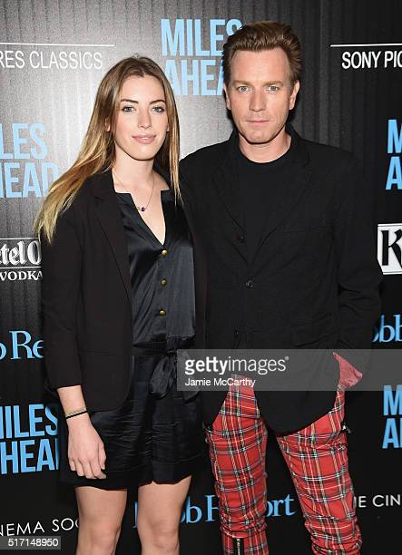 Clara McGregor and actor Ewan McGregor arrive at the screening of Sony Pictures Classics' Miles Ahead hosted by The Cinema Society with Ketel One and...