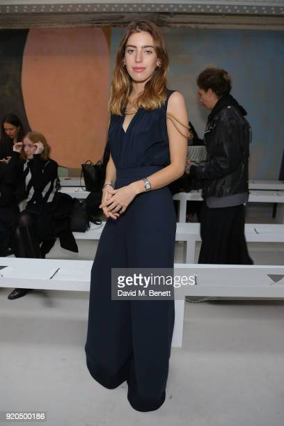 Clara McGregor attends the Roksanda show during London Fashion Week February 2018 at Eccleston Place on February 19 2018 in London England