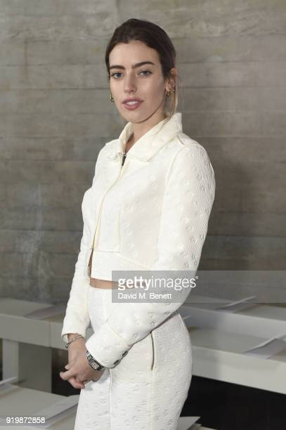 Clara McGregor attends the Roland Mouret show during London Fashion Week February 2018 at The National Theatre on February 18 2018 in London England
