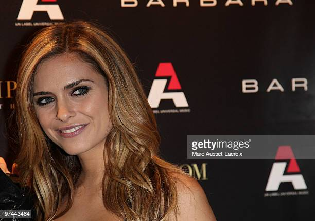 Clara Morgane attend the Barbara Bui Party at VIP Room Theatre on March 4 2010 in Paris France