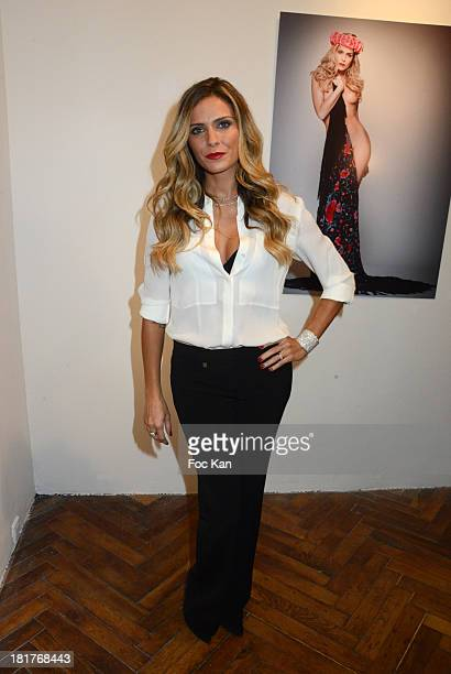 Clara Morgane attends the 'Clara Morgane 2014 Calendar' Launch And Party At the Galerie Hug on September 24 2013 in Paris France