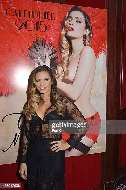Clara Morgane attends The Clara Morgane 2015 Calendar Launch at the New Pink Paradise Club Opening Party on September 23 2014 in Paris France
