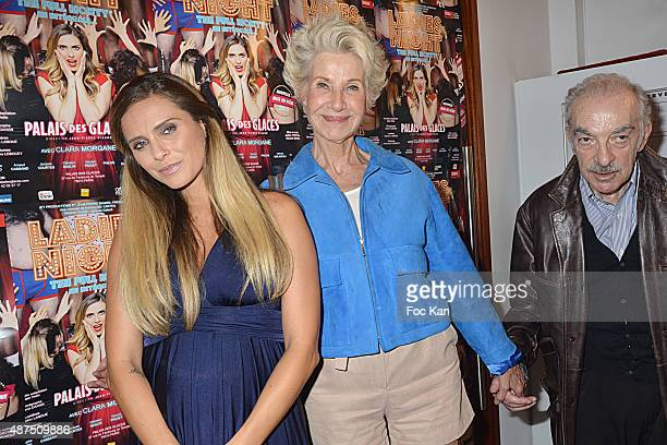 Clara Morgane Daniele Gilbert and Patrick Scemama attend the 'Ladies Night' Generale at the Palais des Glaces on September 9on September 9 2015 in...